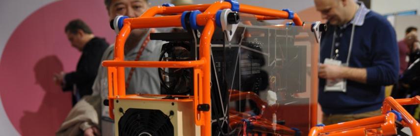 Un boîtier tubulaire pour PC gamer présenté au CES 2013