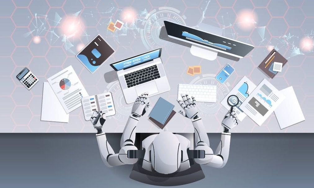 Un robot et outils informatiques